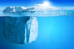 Vue d un iceberg contenu dans l océan web