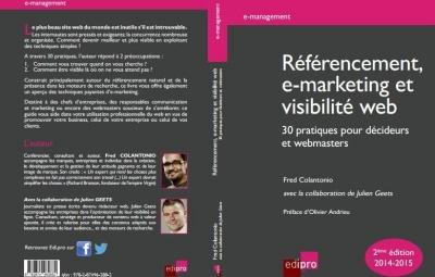 Couverture du livre référencement, e-marketing et visibilité web